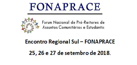 Encontro Regional Sul FONAPRACE